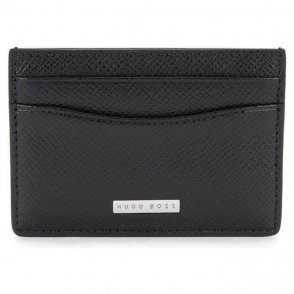 Signature_S Plain Card Wallet in Black