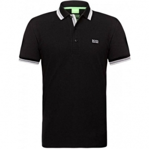Boss Green Paddy Polo Shirt in Black