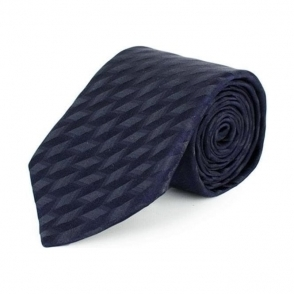 Patterned Tie in Navy