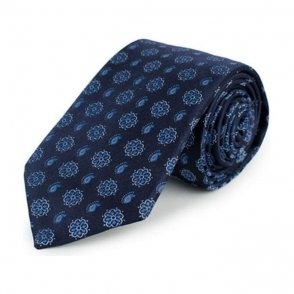 Flower Tie in Navy