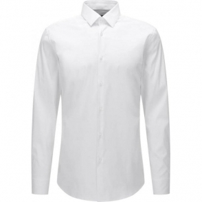 Boss Black Isko Formal Shirt in White