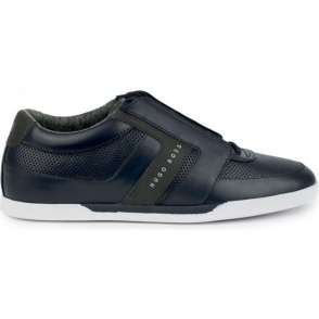 Boss Green Shuttle Trainers in Dark Blue