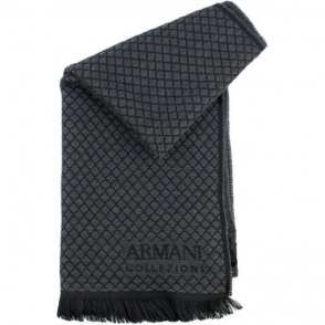 Cross Scarf in Charcoal