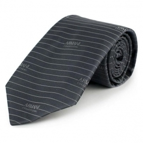 Lined 23 Tie in Grey