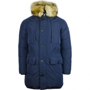 Armani Jeans Fur Coat in Navy
