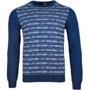 Love Moschino Lined Knitwear in Navy