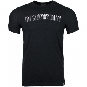 Emporio Armani 4 Logo T-Shirt in Black