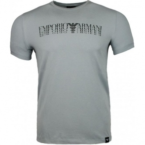 Emporio Armani 4 Logo T-Shirt in Grey