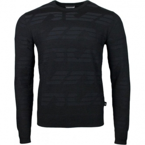 Emporio Armani Indent Knitwear in Black