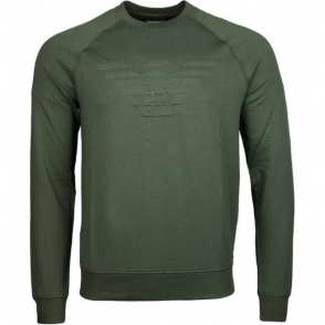 Emporio Armani Eagle Chest Logo Sweatshirt in Green