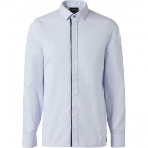 Emporio Armani Mini Stripe Shirt in Light Blue
