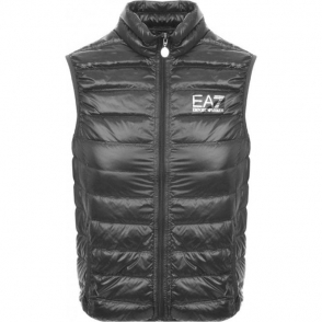 Ea7 Quilted Gilet in Dark Grey