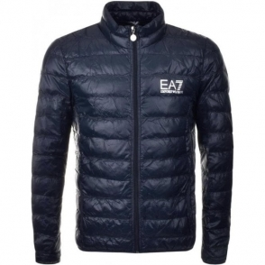 Ea7 No Hood Quilted Jacket in Navy