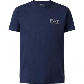 Jersey T-Shirt in Dark Blue