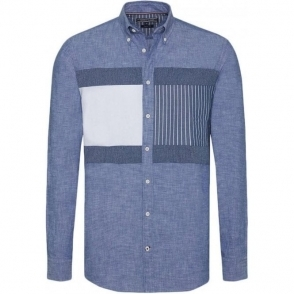 Tommy Hilfiger Patchwork Shirt in Blue