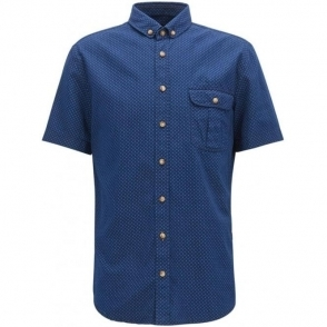 Elibre Short Sleeved Shirt in Dark Blue
