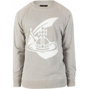 Vivienne Westwood Sword Logo Sweatshirt in Grey