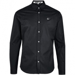 McQ Small Swallow Shirt in Black