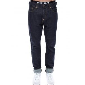 Evisu Jeans Seagull Skinny Fit Selvedge Denim Dark Wash