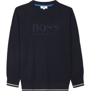 Boss Kids Boss Knitwear in Navy