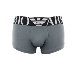 Ea Underwear Big Waistband Boxers in Charcoal