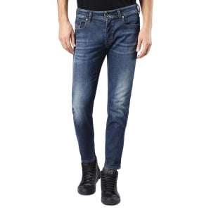 "Diesel Sleenker 30"" Short Leg Jeans in Mid Wash"