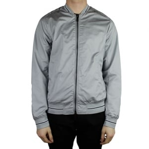 Armani Jeans Woven Bomber Jacket in Grey