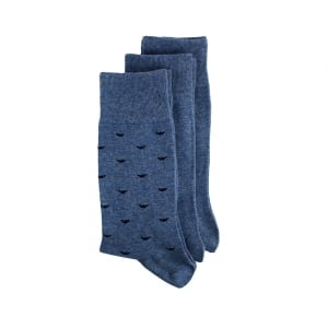 Ea Underwear Emporio Logo Socks in Blue
