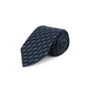Patterned Tie in Charcoal