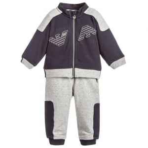 Armani Baby Tracksuit Set in Navy