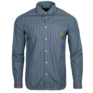 Vivienne Westwood Classic Pinstripe Shirt in Blue