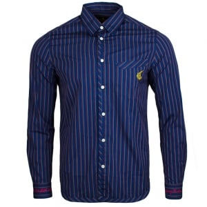 Vivienne Westwood Classic Pinstripe Shirt in Navy