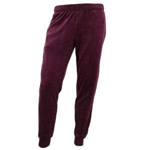 Velour Jogging Bottoms in Maroon