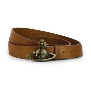 Vivienne Westwood Orb Buckle Belt in Brown