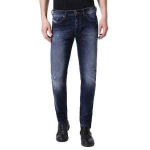 "Diesel Thommer 2 30"" Short Leg Jeans in Dark Wash"
