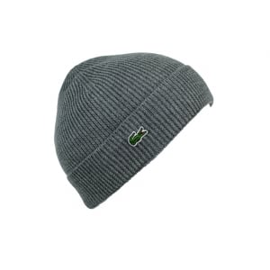 Lacoste Bonnet Hat in Grey