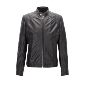 Lank1 Leather Jacket in Black