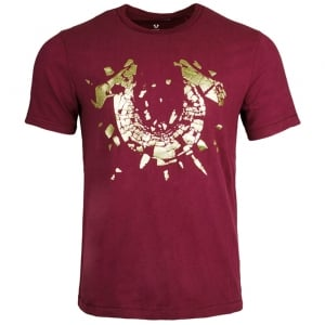 True Religion Shattered T-Shirt in Red