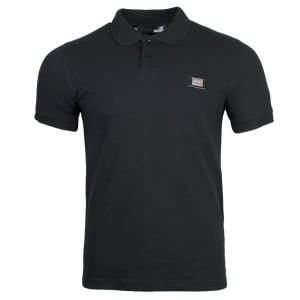 Love Moschino Metal Crest Logo Polo Shirt in Black