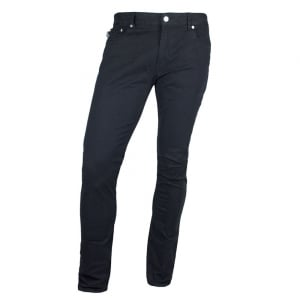Love Moschino Silver Logo Crest Jeans in Navy