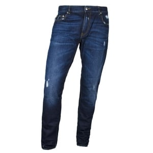 Love Moschino Logo Crest Jeans in Dark Wash
