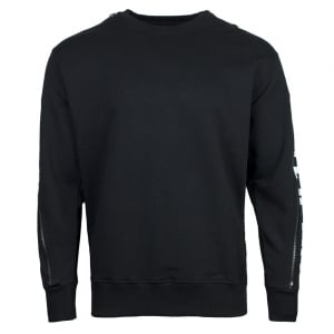 Versus Versace Versus Sleeve Sweatshirt in Black