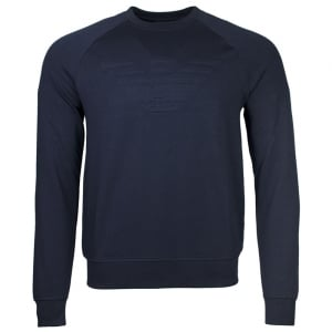 Emporio Armani Eagle Chest Logo Sweatshirt in Navy