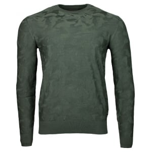 Emporio Armani Indent Knitwear in Green