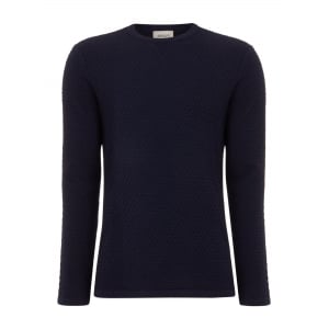 Round Neck Sweatshirt in Navy