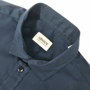 Collezioni Short Sleeve Flax Shirt in Navy