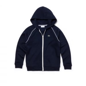 Lacoste Kids 8-12 Years Zip Sweatshirt in Navy
