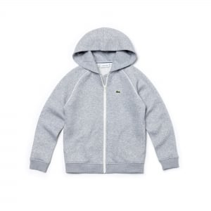 Lacoste Kids 8-12 Years Zip Sweatshirt in Grey