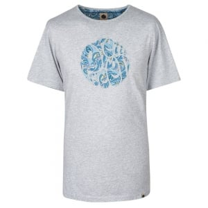 Pretty Green Paisley T-Shirt in Grey