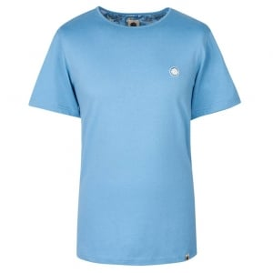 Pretty Green SS Crew Neck T-Shirt in Blue